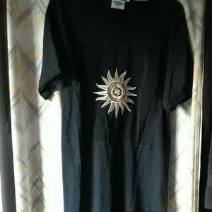 Vintage Johnny Was Black T-shirt Maxi Dress